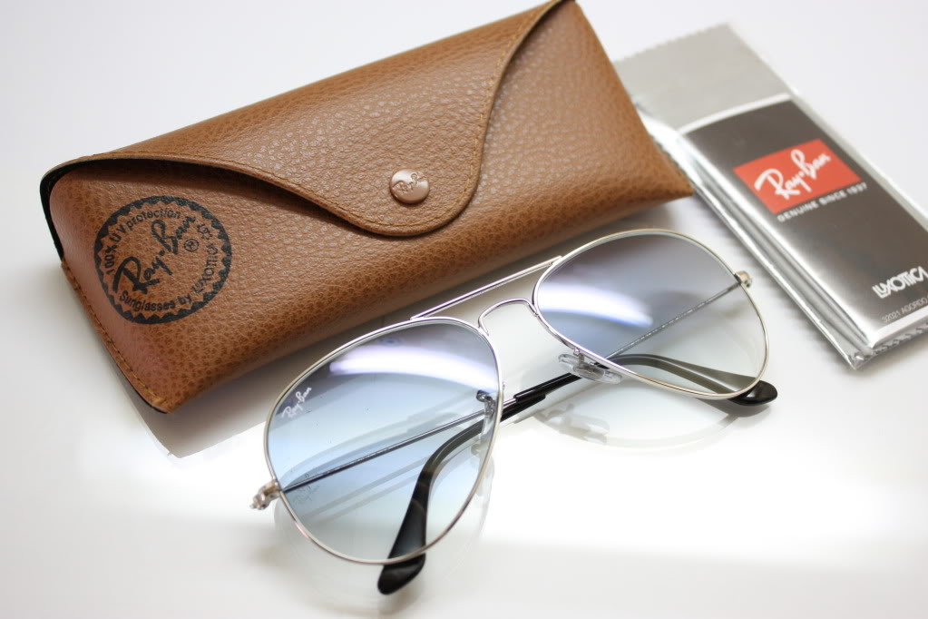 Rayban 3025 003 3F Silver Light Blue Gradient Aviator | ClickBD large image 0