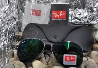 Ray ban RB 3025-26 aviator sanglass with box