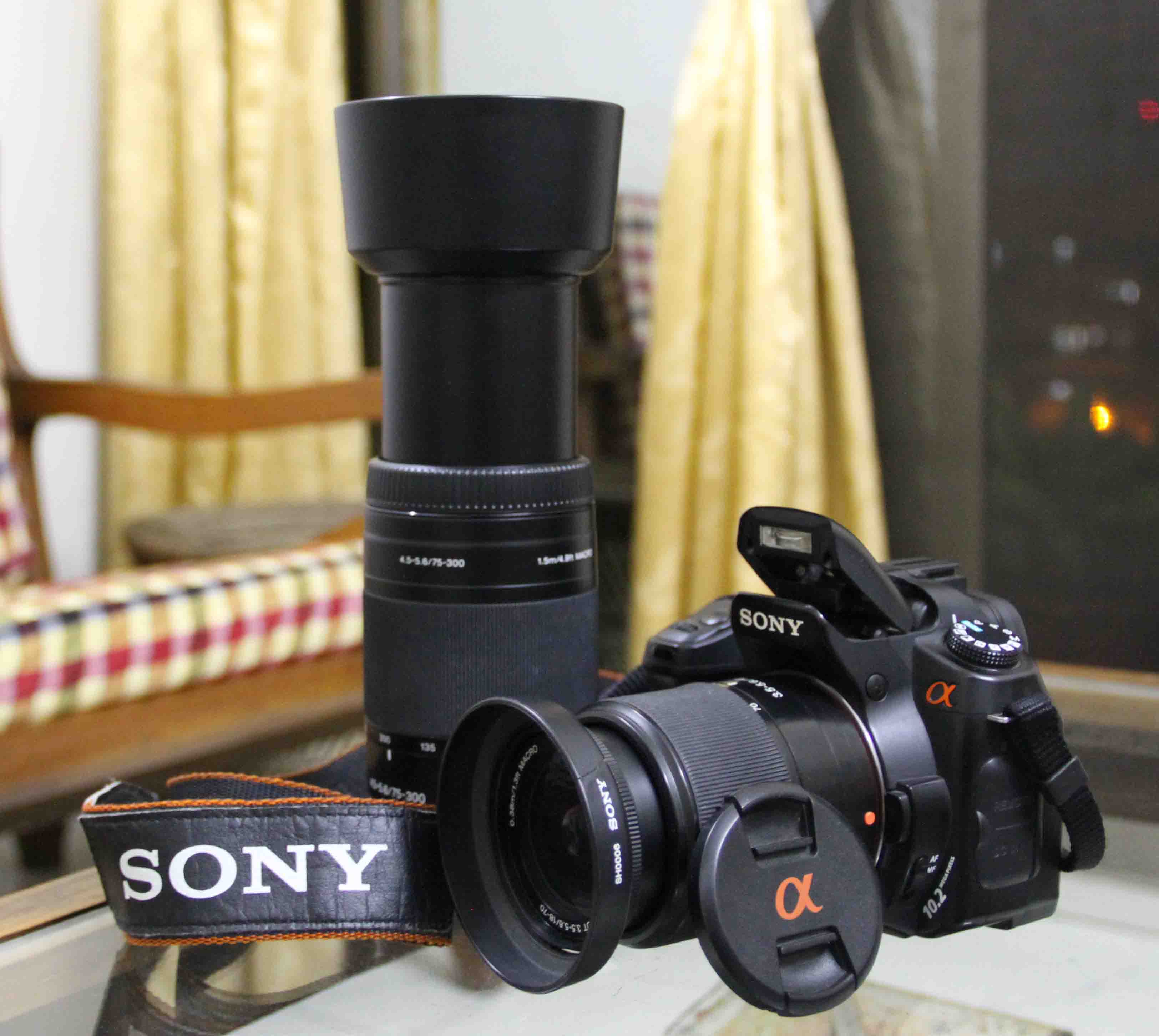 Camera Camera Sony Dslr sony a200 dslr camera with 18 70mm and 75 300mm macro lens clickbd