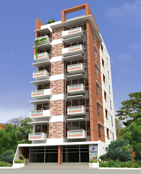 Quantum zaheda mansion at uttara 1627 sft 3 bed 3 bath for Bangladeshi building design