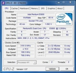 intel dual core e5800 3.2ghz