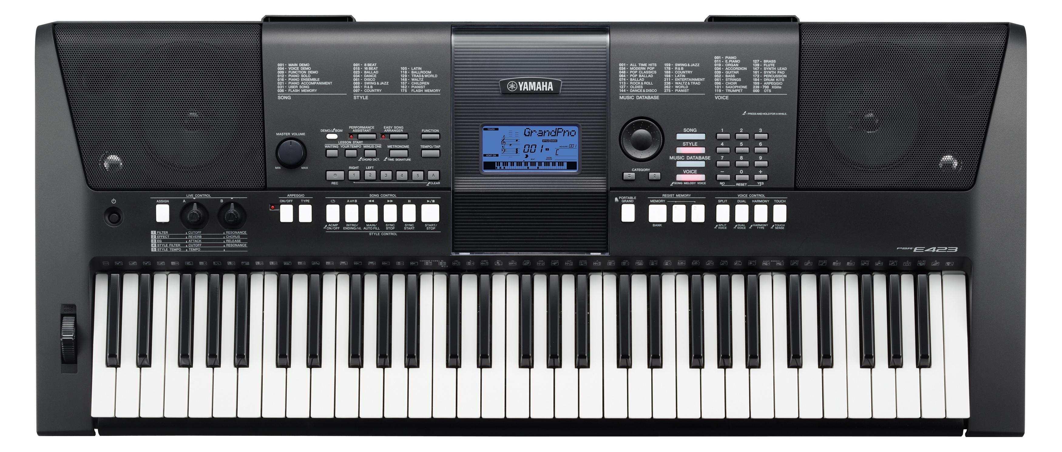 Yamaha psr e423 clickbd for Yamaha professional keyboard price