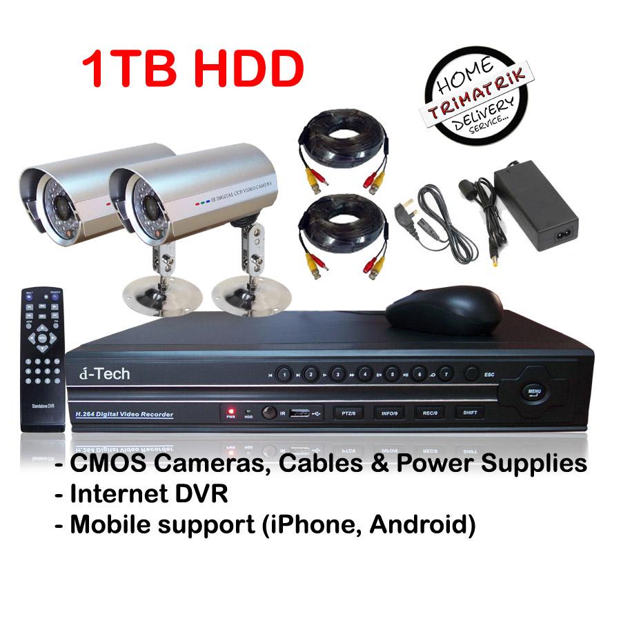 2 Cctv Camera With Avtech 4 Channel Standalone Dvr Clickbd