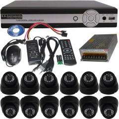 12 CCTV Avt Cameras with Avt Stand 16 Chan DVR Full Packege