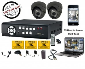 2 CCTV Avtech Cameras with 4 channel PC Based DVR