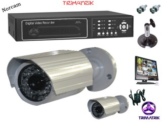 2 CCTV NorCam Camera with 4 Channel Standalone DVR