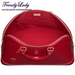 Louis Vuitton Monogram Vernis Leather Alma GM Red