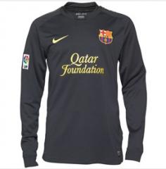 NIKE Barcelona Away Jersey Black Genuine Size L