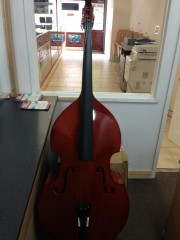 3 4 Double Bass Black Soft Case Bow