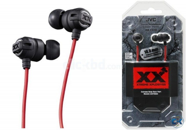 JVC HA- FX1X in-ear headphones. | ClickBD large image 0