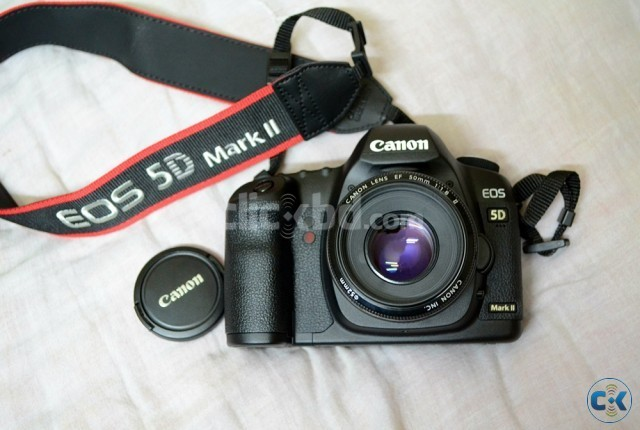 Canon 5D Mark II 50mm 1.8 IS II 6 Month warranty  | ClickBD large image 0