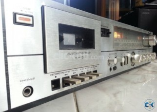 SANYO WOODEN BODY UV MITTER PURE VINTAGE AMPLIFIER JAPAN.