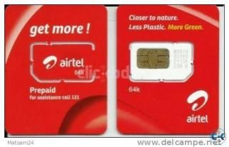 Airtel Sim Card VIP - PRE PAID POST PAID