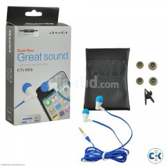New Awei ES 300i Plug In ear headphone