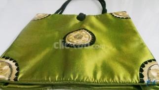 Style Vintage Embroidered Silk Handbag