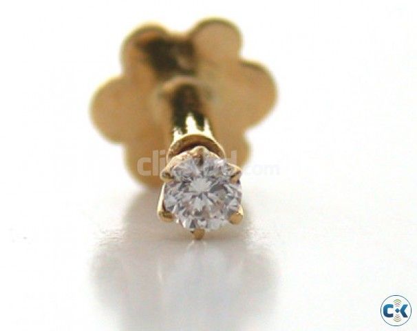 Diamond Nose Pin In 18 K Gold Eid Gift For Her See Inside Clickbd