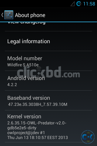Android 4.2 На Wildfire S