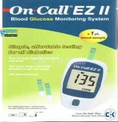 On Call EZ II Blood Glucose Monitor Extra Bulk Package