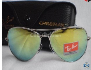 Ray Ban 3026 ALM Lemon Mercury with Chromax Driving Wallet