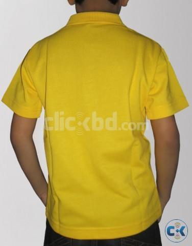 Boys Yellow Cotton Half Sleeves Polo Tshirt | ClickBD large image 1