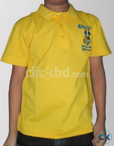 Boys Yellow Cotton Half Sleeves Polo Tshirt | ClickBD large image 2