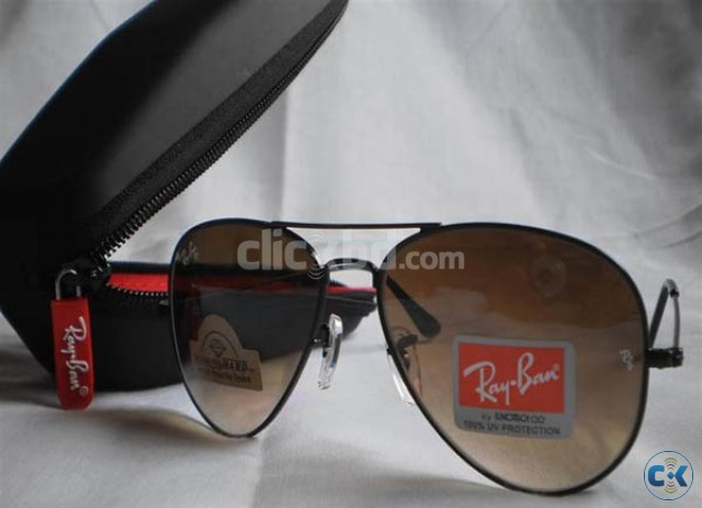 Ray Ban 3026 Aviator Large Metal DH Black Coffee Shade  | ClickBD large image 0