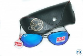 Ray Ban 3025-Ocean Blue Blue fire Aviator Mercury Glasses