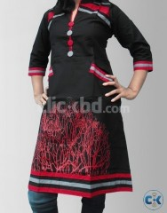Women s Cotton Black Red Colored Kurtas
