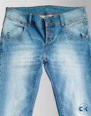 Women s Light Blue Colored Jeans Pants