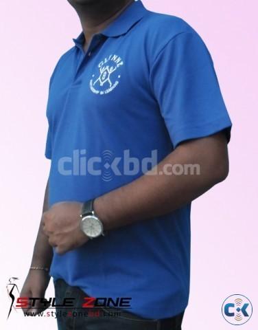 Men s Deep Blue Color Polo T-shirt | ClickBD large image 2