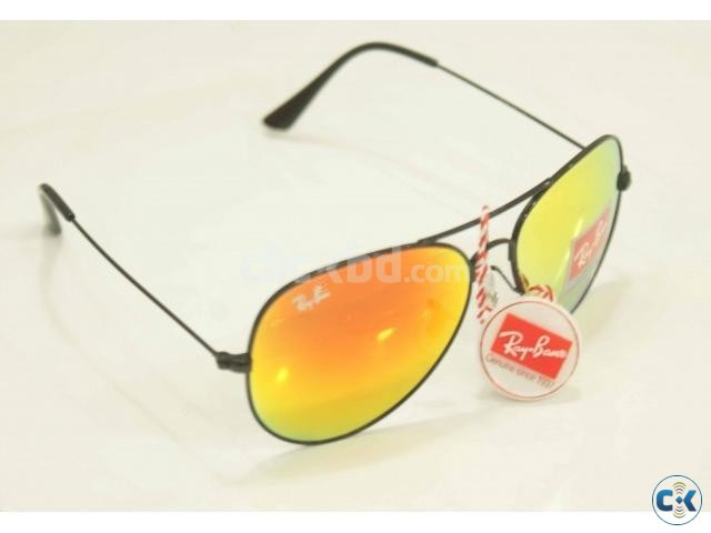 Ray Ban 3025 Ocean Blue fire Aviator Mercury Glasses | ClickBD large image 2