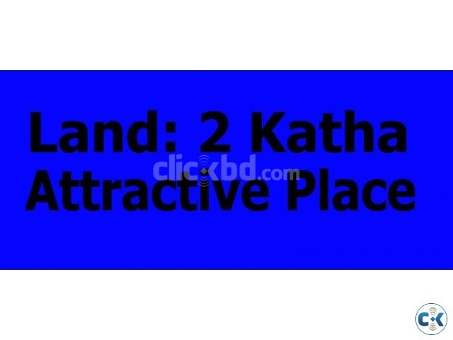 Land Sale 2 Katha Nishkonthok in attractive place | ClickBD large image 0