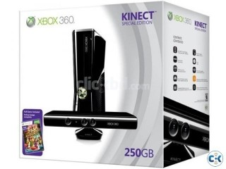 Xbox 360 250GB with kinect full intact box