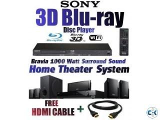 SONY HOME THEATHER BLURAY 3D PLAYER 1000 WATT NEW JAPAN