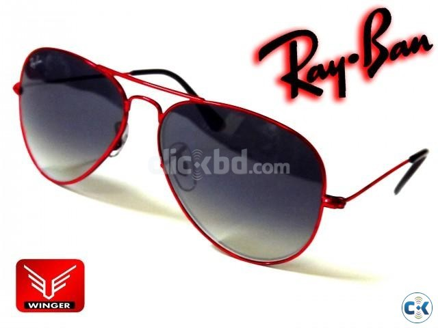 Ray-Ban Large Metal Red Ray Aviator | ClickBD large image 0