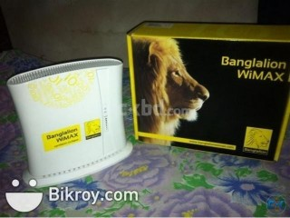 Banglalion Wimax indoor modem Built-in wifi
