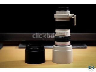 Canon 70-200 f4 L Lens with White Hood and Tripod Ring