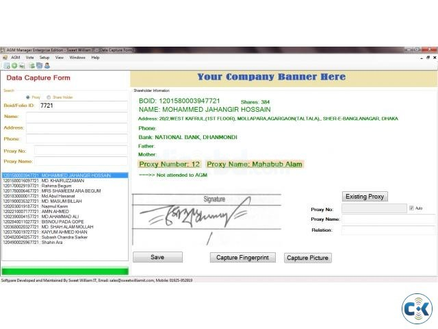 AGM Attendance Management Software | ClickBD large image 1