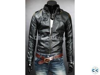 Genuine Leather Jacket For Men Black
