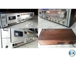 WOODEN BODY VU MITTER PURE VINTAGE AMPLIFIER JAPAN.