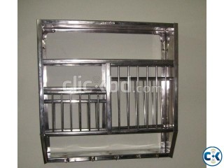 Stainless steel wall-mounted plate rack
