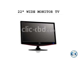 22 WIDE MONITOR LCD TV