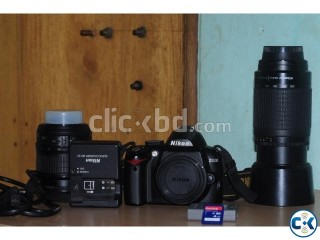 Nikon D300 with 18 -55 and 55 - 300 lens