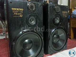 ONKYO 6 OHMS 150 WATT MID TOWER SPEAKER JAPAN FRESH.