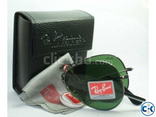 Ray Ban Bottom Green Folding SunGlass Replica  | ClickBD large image 0