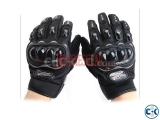 PRO BIKER BLACK MOTORCYCLE GLOVES Home Delivery Service