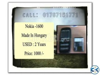 Nokia 1600 Urgent Sell at Lowest Price