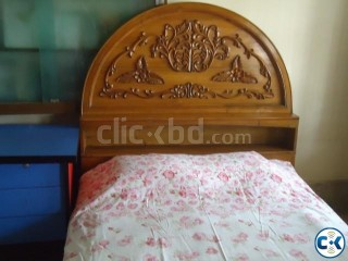 semi double bed and 1 dressing table together