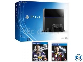 New Playstation 4 Bundle with a PS4 Console Madden NFL 25.