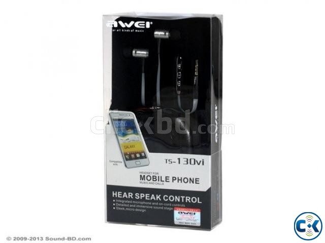 AWEI TS-130VI HIFI EARPHONES WITH REMOTE | ClickBD large image 1